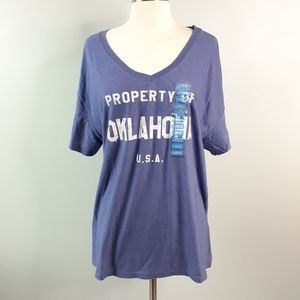 State of Mine Property of Oklahoma T Shirt Large